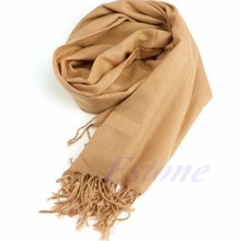 2017 soft Women Wool Blend Long Scarf Tassels Warm Scarves Pure color Cashmere Scarf Winter Warm Soft Wrap Shawl 8 colors