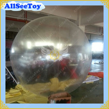 Transparent Color 2m Diameter Inflatable Helium Balloon With Plastic Boston Air Valve/Inflatable Sky Ball Sphere /Free Shipping