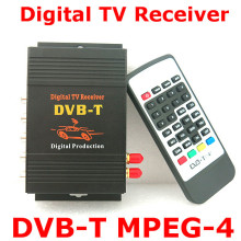 Car DVB-T MPEG-4 Dual Tuner 140-200KM/H DVB T SD Car Digital TV Tuner Receiver for Europe Middle East Australia(China)
