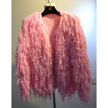 Women Fluffy Fringes Knit Cardigans Ladies Casual Knitting Coat(China)