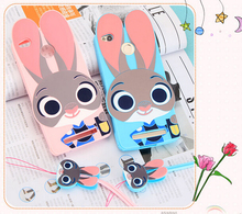 3D Cute Cartoon Judy Rabbit Soft Silicone Shockproof Case For Xiaomi Redmi 3 Pro 3S/2 /Redmi Note 2 /Redmi Note 3 +Lanyard TZ2