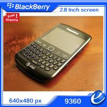 Original 9360 Refurbished Unlocked BlackBerry Curve 9360 3G Phone+ WIFI +GPS +5MP Mobile Phone QWERTY KEYBOARD free shipping