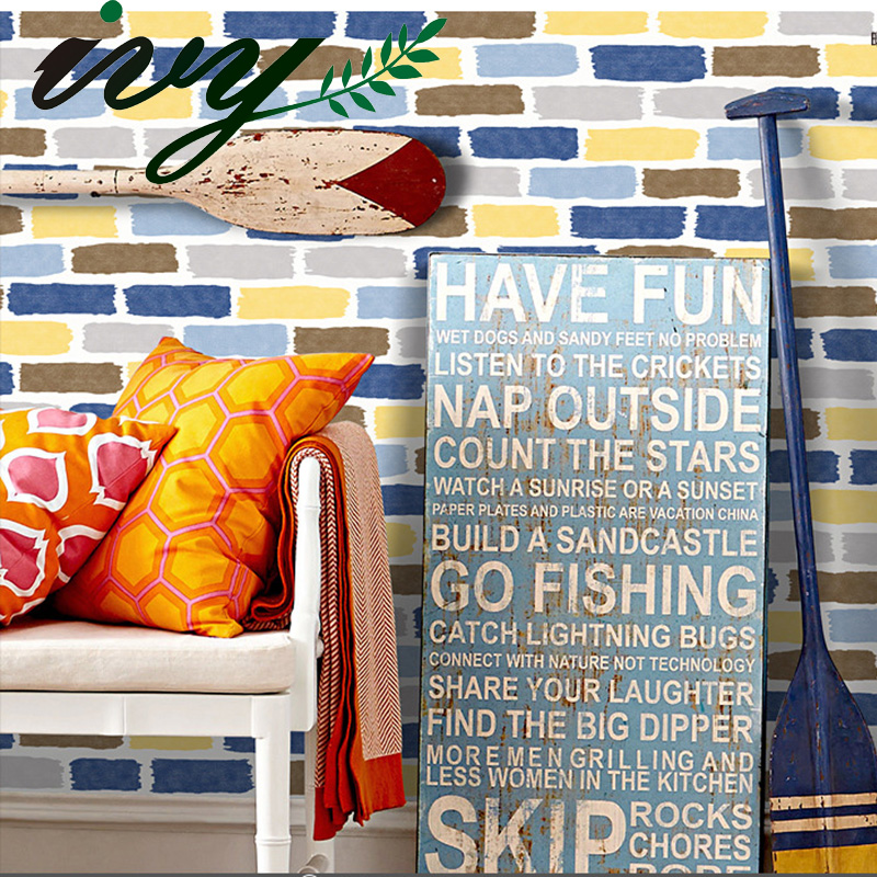 IVY MORDEN Brick Wallpaper for Kid Room Stone Wall Paper for Walls Custom Large Murals Non Woven Home Decor 3 Colors Living Room<br>