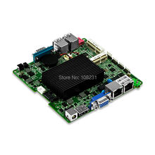 QOTOM Mini ITX Motherboard with celeron j1900 processor onboard, quad core 2 GHz, up to 2.42 GHz, dual lan motherboard DC 12V(China)