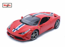 Maisto Bburago 1:18 458 SPECIALE Red Diecast Model Car Toy New In Box Free Shipping