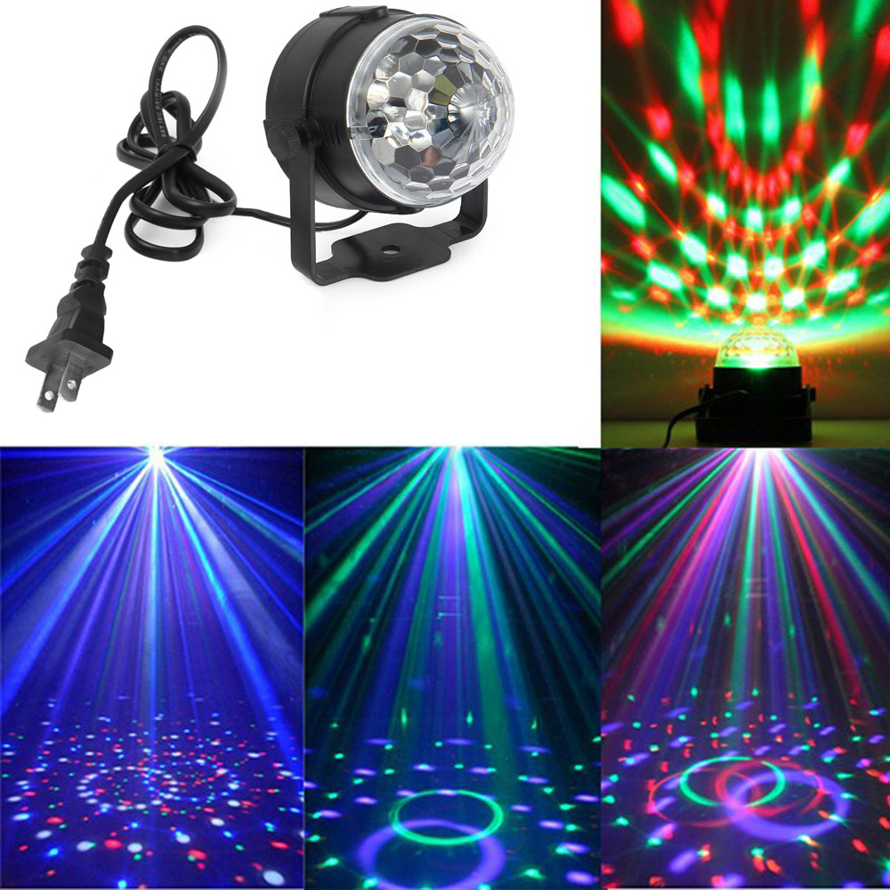 Mini RGB Crystal MagicEffect LED Stage Lights Sound Actived Party Lighting Remote Controller Holiday Party Home Stage Light<br><br>Aliexpress