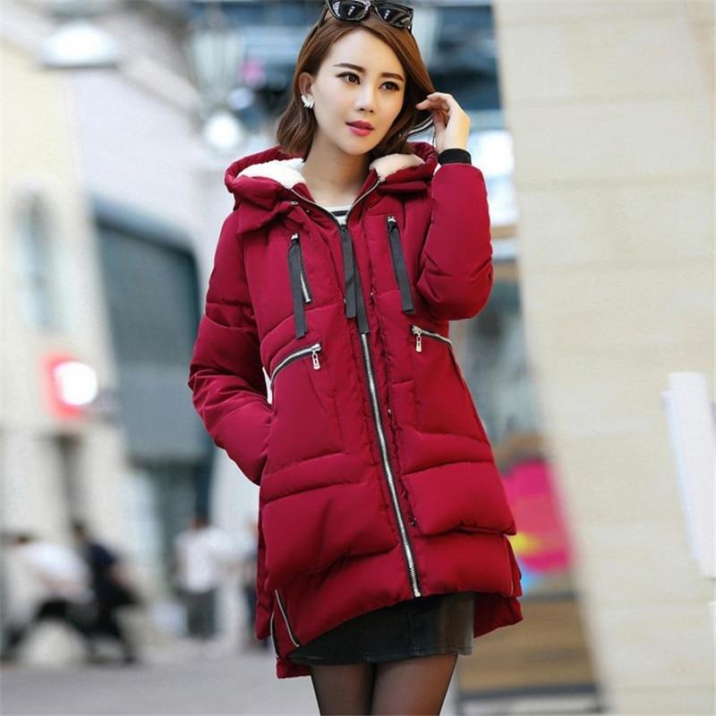 Women Winter Parka Hoody Long Style Warm Fashion Pockets Zipper Windproof Coat Women Parka New Arrivals Plus Size M-5XL Îäåæäà è àêñåññóàðû<br><br>