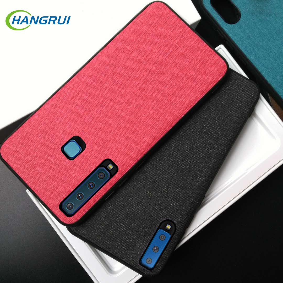 Hangrui Case for Samsung Galaxy A7 2018 Case Heat Dissipation Cloth Fabric Cover For Samsung J4 J6 J8 Plus 2018 J6 2018 Cases