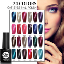 Paraness 8ML Nail Gel Polish 3D Cat Eyes Magnet Effect UV LED Gel Nail Polish With Powder Glitter Nail Art(China)
