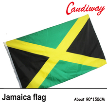 90 x 150cm Jamaica National Flag Hanging Flag Polyester Jamaica Flag Banner Outdoor Indoor Big Flag NN071(China)