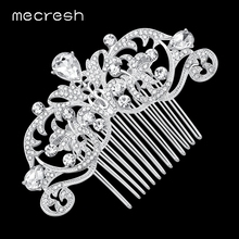 Mecresh Crystal Wedding Hair Accessories for Women Silver/Gold-Color Owl Eye Bridal Hair Comb Jewelry Cute Christmas Gift MFS116(China)
