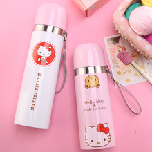 Kawaii Cretive Hello Kitty Stainless Steel Double Wall Vacuum Flask Coffee Mug Travel Tumbler Water Bottle Insulated Thermo Cute