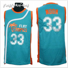 yingyuanFang Retro Basketball Movie Semi Pro Jersey Jackie Moon 33#  Flint Tropics Throwback Jerseys man green All Stitched