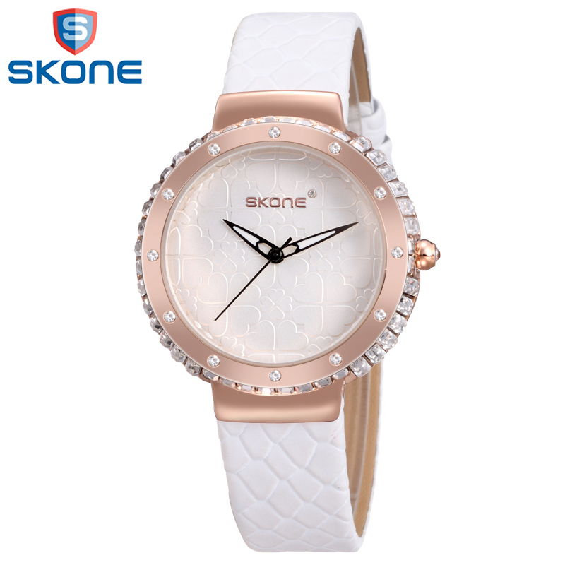 SKONE Colorful Leather Watch for Women Simple Quartz Wristwatch Fashion Crystal Watches for Lady Female<br><br>Aliexpress