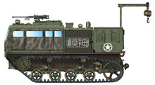 Military Assembly Model Vehicle 1/72 American M4 High Speed Tractor Tracked Trailer 82921(China)