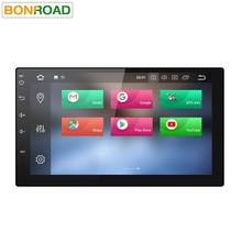 Bonroad Android 8.0 Octa Core PX5 4G RAM Car Radio 2 din Universal GPS Navigation Stereo Audio HD 1024*600 WIFI Bluetooth No DVD(China)