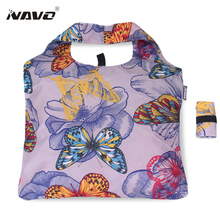 NAVO folding shopping bag butterfly big shopper resuable tote bags shopping grocery bag household bag boodschappentas Xmas gift