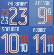 2014 Netherlands Holland HOME SNEIJDER VAN DER VAART V.PERSIE ROBBEN name numbering nameset soccer patch soccer badge(China)