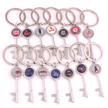 Drop shipping 14 styles Chicago Cubs Rangers Sox Cardinals Tigers Giants Dodgers Jays Reds Baseball team Logo Key charm keychain