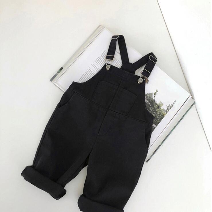 2019  new wholesale  boys girls denim overalls spring fashion kids long pants 1-6t HI607