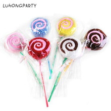 1PCS 20*20CM Gift Towel Creative Lovely Lollipop Towel Cotton Hand Towel Face Towel Party Gifts LUHONGPARTY