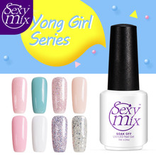 Sexy mix French Manicure Kit Nail Gel Polish Hot Sale Nude Color Series Nail Gel Polish Soak off UV White Color Gel Polish 7ML