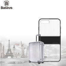 Baseus Transparent Travel Case Cover For iPhone 7 i7 TPU+PC Case For iPhone 7 Plus Double Protection Shell Suitcase Shape