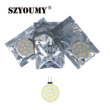 SZYOUMY 20PCS 15 LED G4 SMD 5730 Led Lamp 3W LED Lighting Lamp G4 5730 round Lamp White/Warm White
