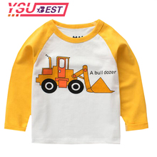 2-8 Year Boys Long Sleeve Tops 2018 Baby boys T-shirt Children Clothing Cloth Crocodile Printed Kids T-shirt for Boys Sweatshirt(China)