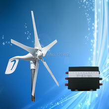 400W 12V Mini Wind Power Generator HAWT Wind Turbine with 5PCS Blades + Top Quality 600W/12V Wind Controller,CE Certificate