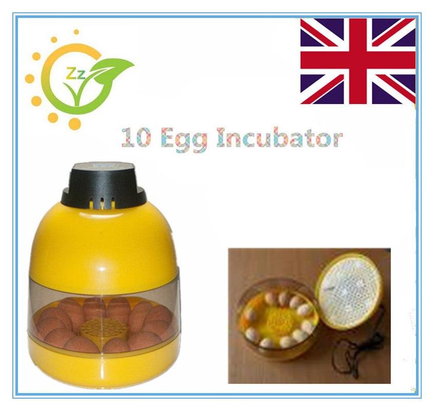 UK  Warehouse Big Sale China Brooder Automatic 10 Eggs Incubator Hatchery Auto Hatchers Machine  Indicator Light<br>