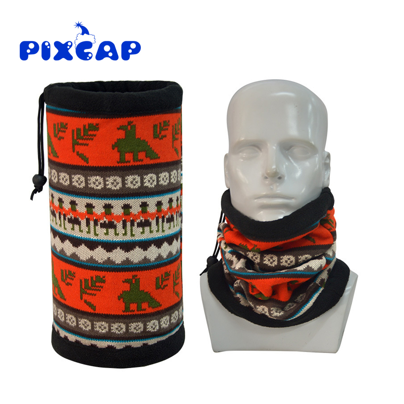 Winter Sport Double Layers Fleece Bandanas Magic Tube Scarf Cycling Neck Warmer Multi Function Polar Reversible Headwear(China)