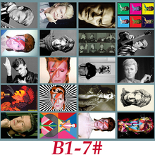 B1-7# David Bowie Classic Series sticker 20/pcs PVC Laptop Sticker collection Gift Home Decor Fridge Styling Mixed Stickers(China)