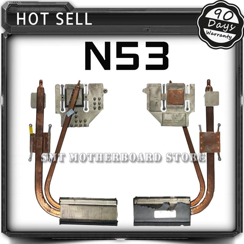Fan For N53 N53JN N53J N53JF N53JQ N53JG N53JL CPU copper radiator module Cooling Fan Motherboard Tested<br>