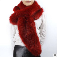 new hot high quality fashion lady blinger factory direct sale faux fur scarf long cross-over unique design long muffler