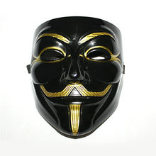 V For Vendetta Guy Fawkes Mask Anonymous Halloween Cosplay Fancy Dress Costume(China)