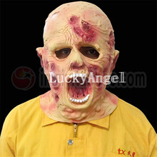 Horror Cosplay Latex Adult Bloody Zombie Mask Melting Face Walking Dead Halloween Scary Party Mask Mardi Gras Ball Masks