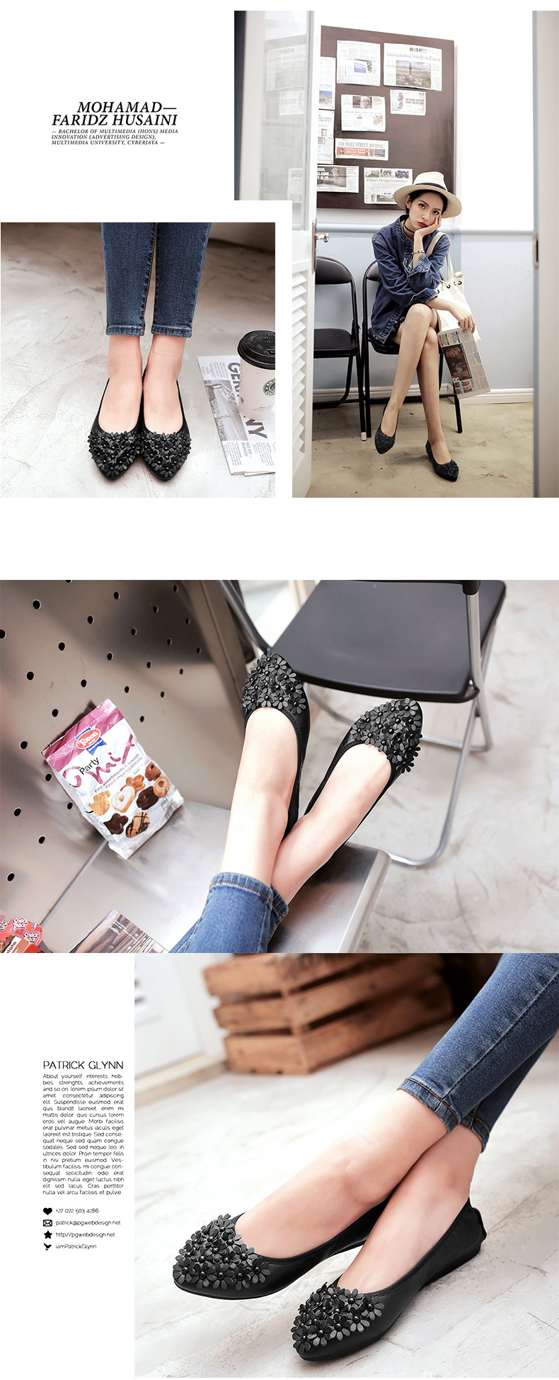 Women Foldable Ballet Shoes Flower Egg roll shoe Woman PU Pointed Toe Girl Shollow Single Shoes Ballet Flats Girl Ladies 34-45 (14)