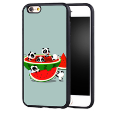 cute cat panda Summer Fruit Watermelon Design case cover For Samsung s4 s5 s6 S7 S6edge S8 S8plus note 2 3 4 5