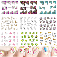 1 Sheets New  Water 31 Designs Nail Sticker Nail Art Water Transfer Decals Cartoon/Flower/Feather DIY Tips TRSTZ001-031