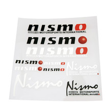 Nismo 3M Vinyl Wrap Printing Car Sticker Adhesive Die Cut Body Sticker Car Racing Decal MINI Car Styling PVC Car Accessories(China)