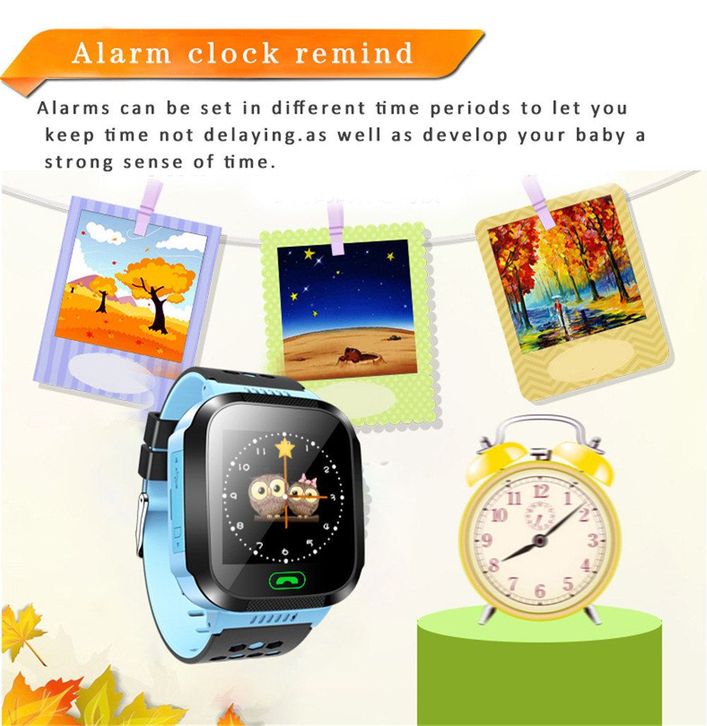 Greentiger Q02 Children Smart Watch with Camera Touch Screen SOS Call Tracking Location