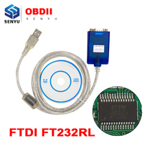 Newest USB to RS232 Adapter With FTDI FT232RL Chip OBD OBD2 Diagnostic Scanneer RS232 OBD Extension Cable High Quality(China)