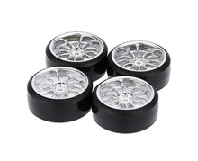 4pcs 1/10 RC Drift tires tyres wheels fit for 1/10 Traxxas HSP Tamiya HPI Kyosho RC Drift car