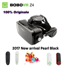Xiaozhai bobovr z4 leather pro 3d virtual reality vr cardboard glasses vrbox headphone + stereo headphone for4-6 'mobile phone