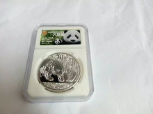 2011ys silver panda coin 1oz with capsule pcs grade NGC collection box for collection gift