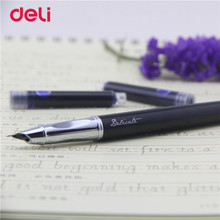 Deli 1pcs school supplies Fountain Pen for students writing Fountain pen business Stationery 2017 new metal ink pen kids gifts