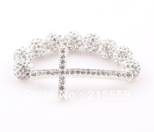 Children Sideways Cross Shamballa Bracelet Baby Kids Mouse Love Heart Lip Crystal Disco Ball Gift Cut Bracelet ZB50