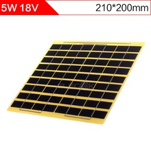 ELEGEEK 5W 18V DIY Solar Cell Panel 210*200mm 270mAh Polycrystalline Silicon Glass Fiber Laminated Mini Solar Panel for Test