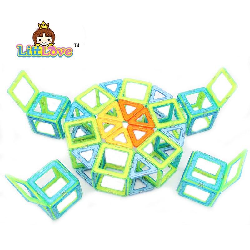 LittLove 67 PCs Magnetic Designer Construction set Enlighten Bricks Magnetic Model&amp;building blocks Educational toys for children<br>